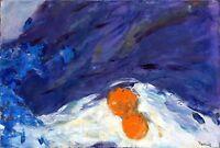 """Russischer Realist Expressionist Öl Leinwand """"Blaues Stillleben""""  75 x 50 cm"""