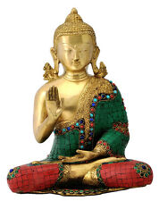 Blessing Lord Buddha Brass Statue (6053)
