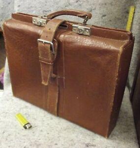 Tasche, Aktentasche, Koffer, alt, ausgefallen, Leder, Chrombeschläge