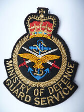 MINISTRY OF DEFENCE GUARD SERVICE POCKET PATCH.