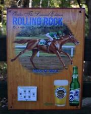 VTG Racehorse Rolling Rock Beer Advertising Man O War Sign Horse Racing Champion