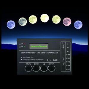 PROGRAMMABLE LED CONTROLLER TC420 5 CHANNEL SUNRISE SUNSET