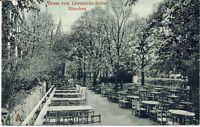 AK München, Löwenbräukeller, Biergarten; gel. 24.6.1921 nach Fürth