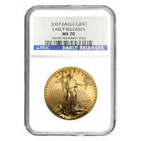 2007 1 oz $50 Gold American Eagle NGC MS 70 Early Releases