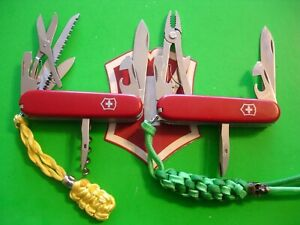 NTSA LOT of 2 VICTORINOX SWISS ARMY POCKET KNIVES HUNTSMAN & MECHANIC