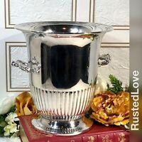 Silver Plated Ice Bucket / Champagne Holder / Vintage Urn / Flower Vase