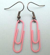 Boucles d'oreilles trombone rose