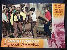 FOTOBUSTA CINEMA - COMBATTIMENTO AI POZZI APACHE - BEN COOPER - 1957 -WESTERN-06