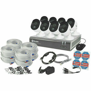 Swann 1080P CCTV Kit 8 Channel Home Security Camera System Outdoor Night Vision