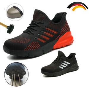 Herren Damen Arbeitsschuhe Leicht Stahlkappe S3 Sicherheitsschuhe Sport Sneaker
