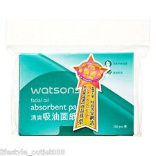 Watsons Facial Oil Absorbent Paper 500pcs (100pcs x5 packs) Free Shipping