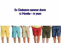 Boys shorts combat and regular ex chainstore sizes 12 months till 14 years