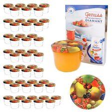 50 Sturzgläser 230 ml Obst gelbe Birne Deckel Einmachglas Einweckglas Marmelade