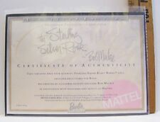 MATTEL THE STERLING SILVER ROSE BARBIE CERTIFICATE OF AUTHENTICITY COA ONLY 2001