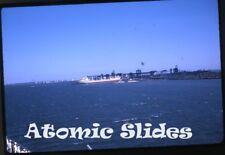1963 kodachrome Photo slide ship in port