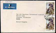 Zambia 1988 Commercial Airmail Cover To UK #C33159