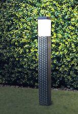 Brown Solar Power Rattan Effect  Post Light Path/Walkway Outdoor Lamp LED Light