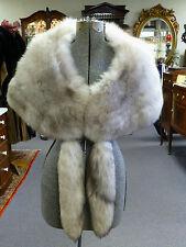Vintage Silver Blue Grey Fox Stole Wrap Cape ( Shillitos ) 4 Detachable Tails