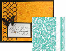 Anna Griffin Cuttlebug Embossing Folders Poppy embossing folder set 5x7 Roses