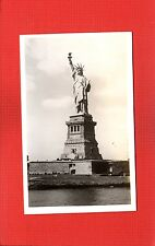 Rppc Statue of Liberty on Bedloes Island,New York City,sold atop Empire State