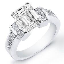 1.97 Ct. Emerald Cut Diamond Engagement Ring 14K Gold