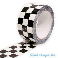SKA Rude Boys Klebeband Tape 66m x 50mm Karo Schachbrett Muster NY Taxi Band