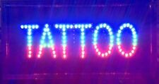 Led Business Proffessional Tattoo Studio Shop Sign +On/OffSwitch Open Light Neon