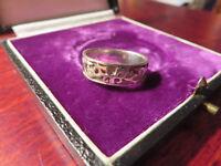 Schöner Silber Ring Muster Ranken Matt Glänzend Schlicht Mystisch Retro Vintage