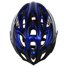 5X(Casco Visera Protecci Ciclismo para Bicicleta Bici Talla L Azul Negro C3O7)