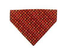 Fall Dog bandana slip over the collar Herringbone print washable dog bib