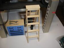 1/18 scale  - 8 ft folding LADDER for your shop/garage/diorama