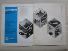 5/1974 PUB AEROSPATIALE CONCORDE AIRBUS LAMA CORVETTE GAZELLE RALLYE EXOCET AD