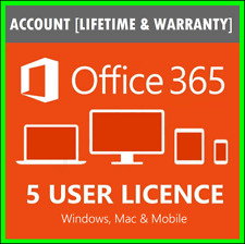 Microsoft Office 365 Pro Plus 2019 ⚫ Account Lifetime ⚫ 5 Devices for Wind & Mac