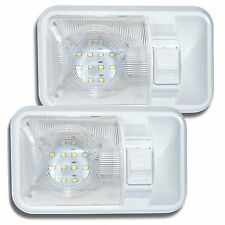 2x 12V LED RV Ceiling Dome Light RV Interior Light for Trailer Boat Fast Ship
