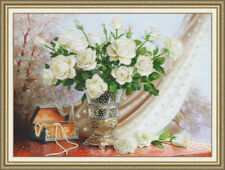 Bead Embroidery kit White Roses by Golden Fleece