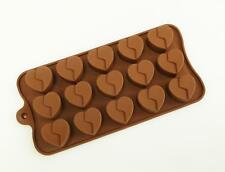 15 Broken Heart Silicone Chocolate Mould Decoration Craft Flexible Sugarcraft