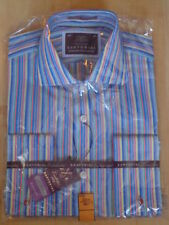 Striped Long Double Cuff Formal Shirts for Men