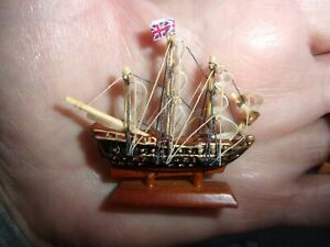 SAILING SHIP FOR THE MANTLE  - DOLL HOUSE MINIATURE