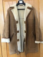 Sawyer of Napa VTG Marlboro Man Sheepskin Coat Leather Jacket Men's 40L