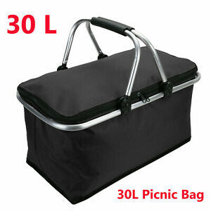 30L Large Thermal Cool Picnic Food Storage Bag Box Adult Kids Insulated Lunch UK