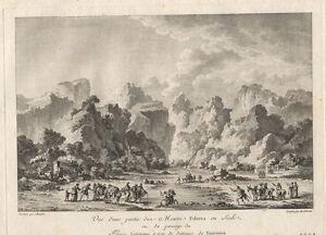 Bei Taormina/Sizilien: Kuperstich von Ghendi/Chatelet, ca. 1780