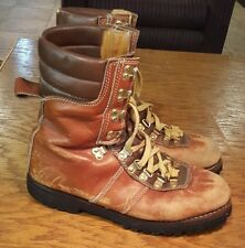 Vintage Mont Blanc Leather Hiking/Mountaineering Boots Men's 9D