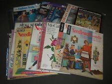 1940S-1970S KNITING NEEDLEWORK CROCHET MAGAZINES LOT OF 16 - MCCALL'S - PB 87