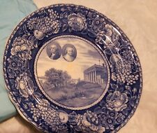 "10"" Staffordshire Plate President Washington's Home in Mount Vernon Virginia WOW"