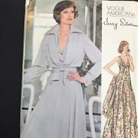 Vintage Vogue Sewing Pattern 1117 Size 14 Knit Flared Dress Tie Blouse Shirt XL