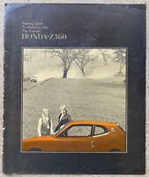 c1971-1973 Honda Z360 original Australian sales brochure