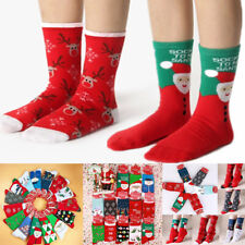 Lovely Christmas Socks Women Men Gift Santa Claus Deer Warm Winter Xmas Funny