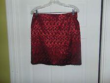 Columns Size 30W  Sexy Club Wear Short Skirt Shinny Dark Red Black Floral Print