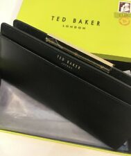 Ted Baker Metal Bar Zip Around Matinee Purse With Box 100% Genuine Black