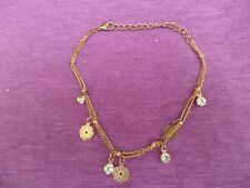 with little crystal beads. Pretty ankle chain, anklet,